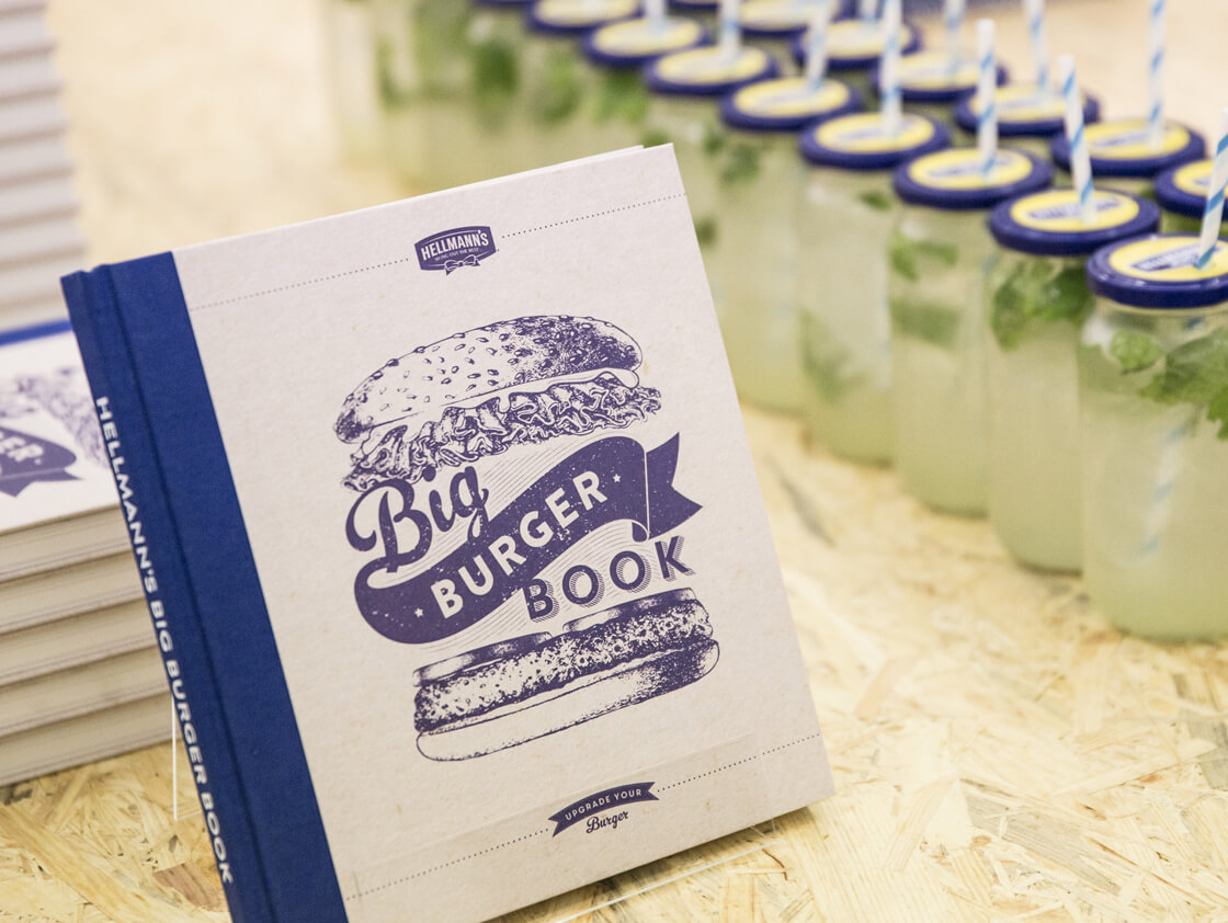 Hellmann's Burger Book on table