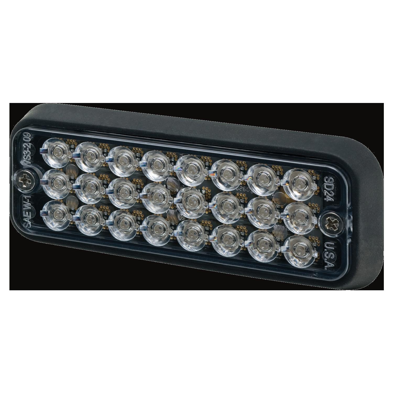 Directional LED: Surface mount, 12VDC, 16 flash patterns, amber