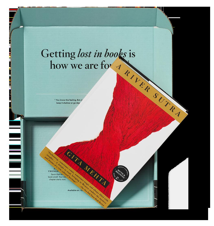 Current book pick in the Literati box