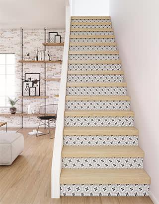 Projet rénovation escalier contremarches uniquement :