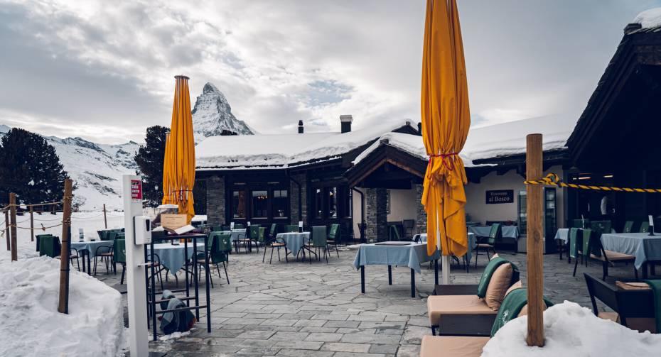 Restaurant Al Bosco Riffelalp Resort Winter