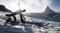 Snooc, der neue Schlitten für Spass auf der höchsten Schlittelpiste der Alpen oberhalb Zermatt