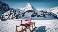 Luge avec siège pour enfant Gornergrat Rotenboden en gros plan