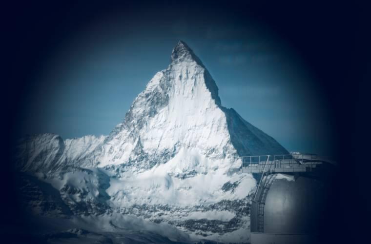 View of the Matterhorn through the Viscopes