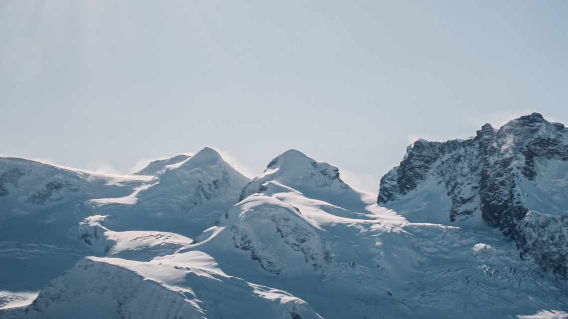 Castor und Pollux im Winter vom Gornergrat aus