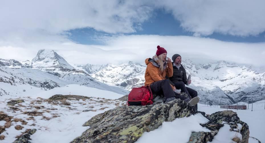 Randonnée hivernale dans le Gornergrat