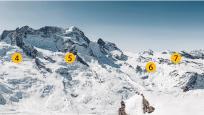 Schwärzgletscher, Breithorngletscher, Unterer Theodulgletscher & Oberer Theodulgletscher