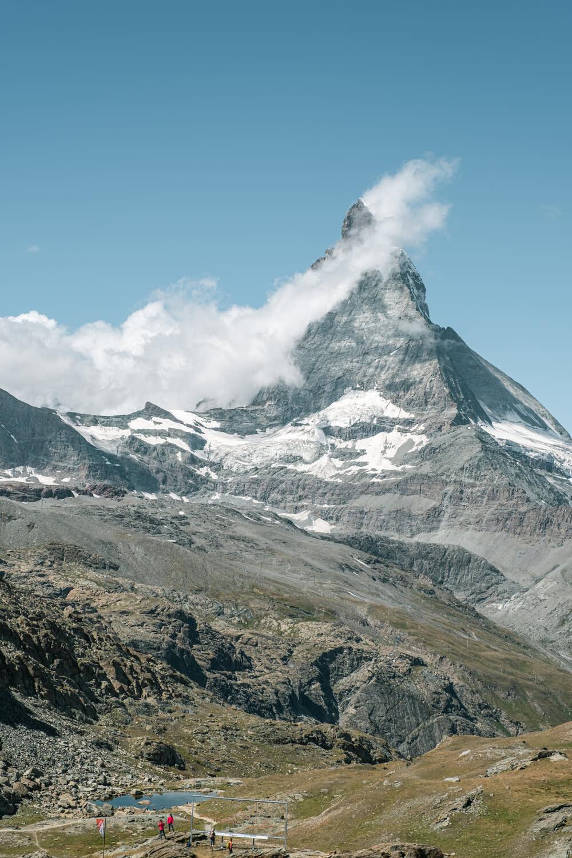 Riffelsee Lake above Zermatt in summer