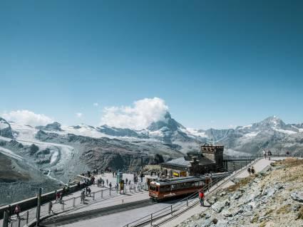 La station du Gornergrat à 3089 m en été