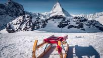 Gros plan sur le toboggan de Davos Rotenboden Gornergrat