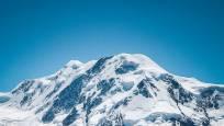 Aussicht vom Gornergrat auf den Gornergletscher und Lyskamm
