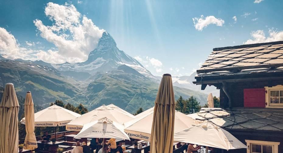 Sun terrace Restaurant Alphitta on the Riffelalp
