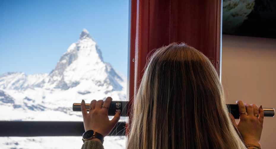 """Zooom the Matterhorn"" - View through the periscope"