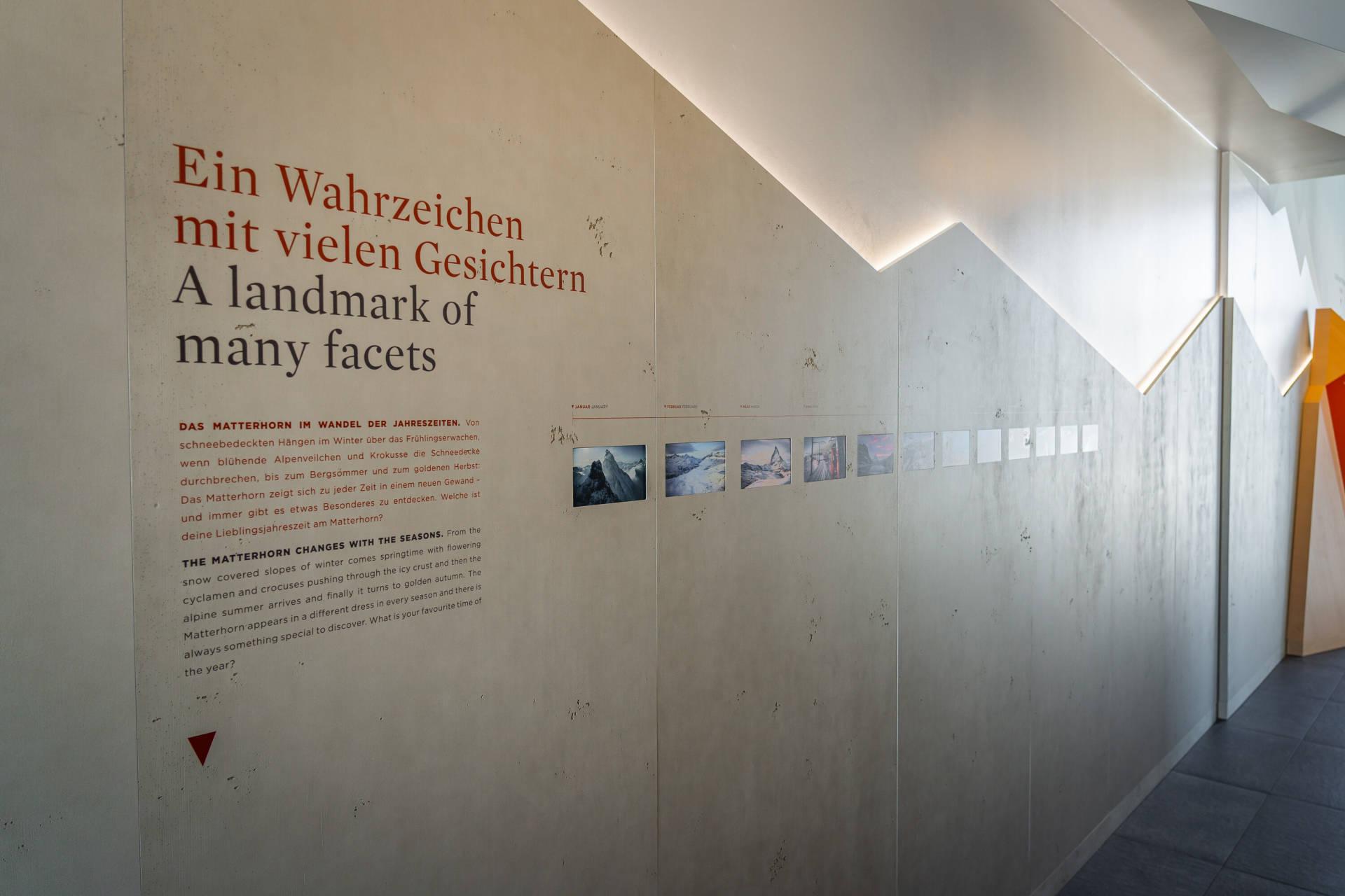 Das Matterhorn im Wandel der Jahreszeiten - Zooom the Matterhorn, Erlebniswelt am Gornergrat, Zermatt