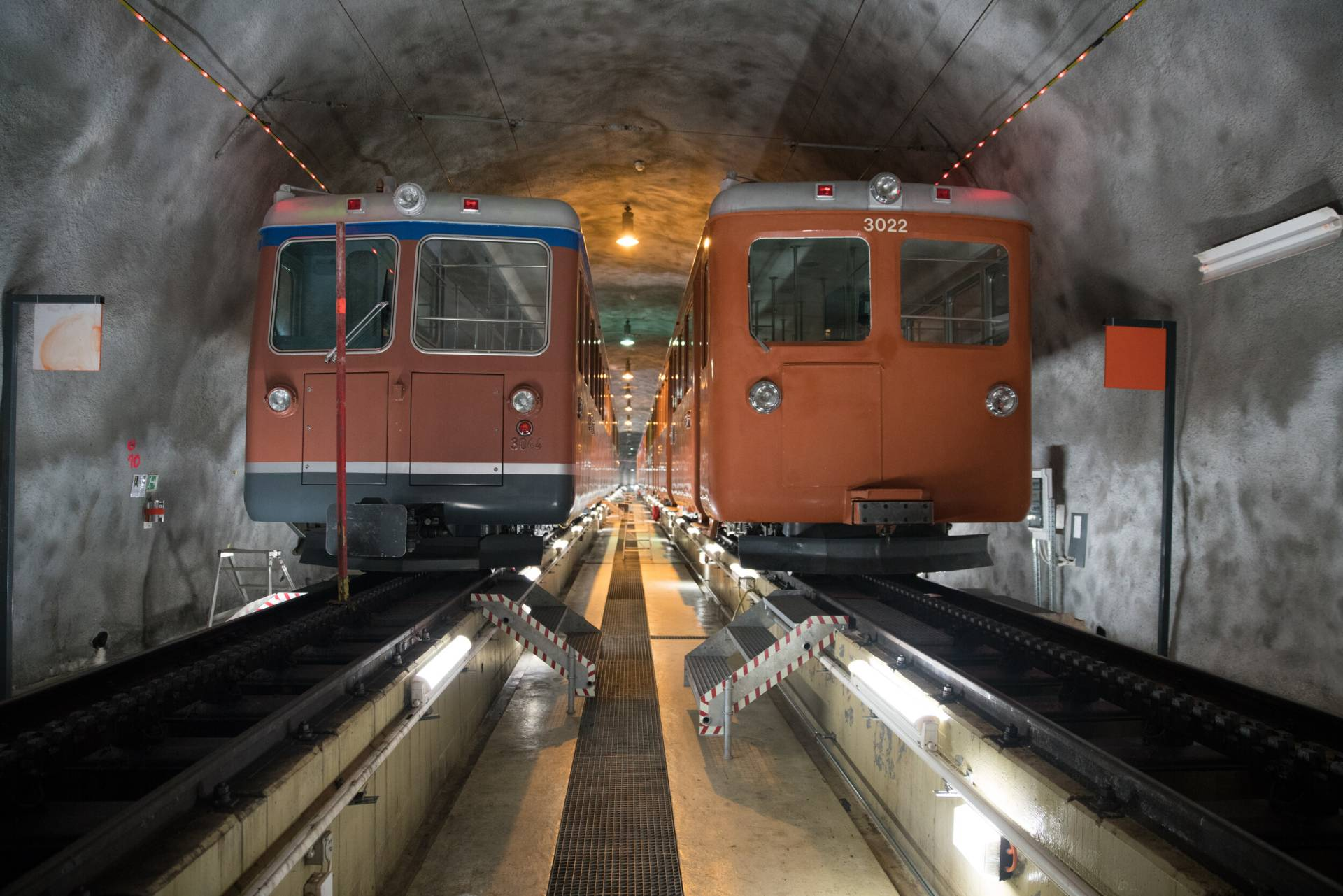 Stollen der Gornergrat Bahn in Zermatt