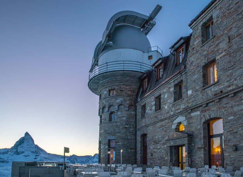 Evening atmosphere, Kulmhotel, Gornergrat, Matterhorn