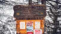 Markierung Restaurant Chämi Hitta Riffelalp oberhalb Zermatt