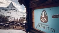 Restaurant Alphitta sur l'alpage de Riffel au-dessus de Zermatt