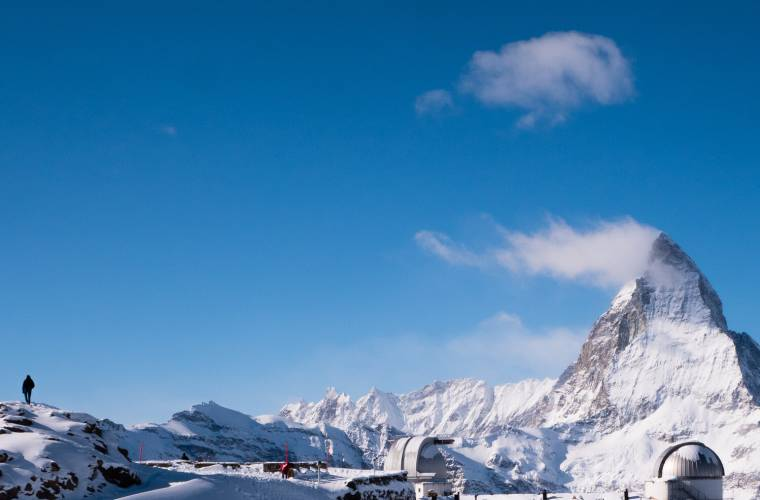 Blick von der Aussichtsplatform Gornergrat auf's Matterhorn