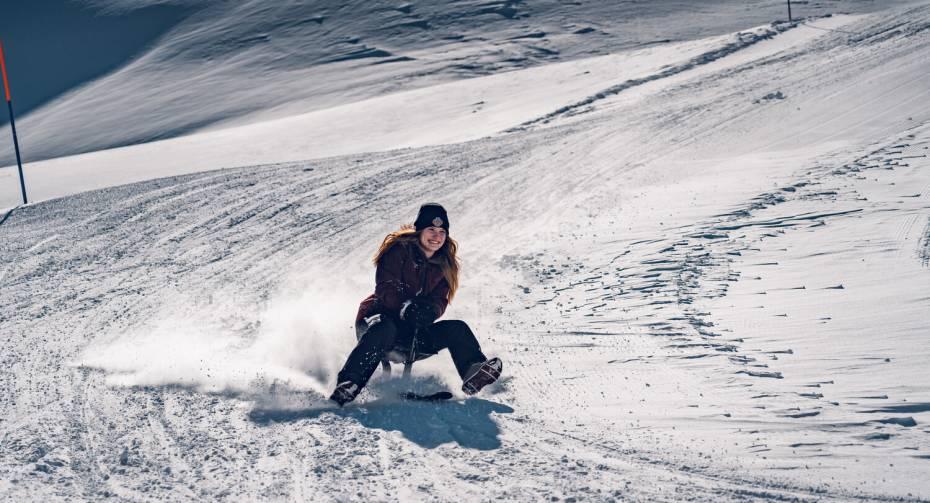 Snooc am Gornergrat inmitten der Alpen