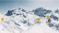 Gornergletscher, Grenzgletscher, Zwillinggletscher