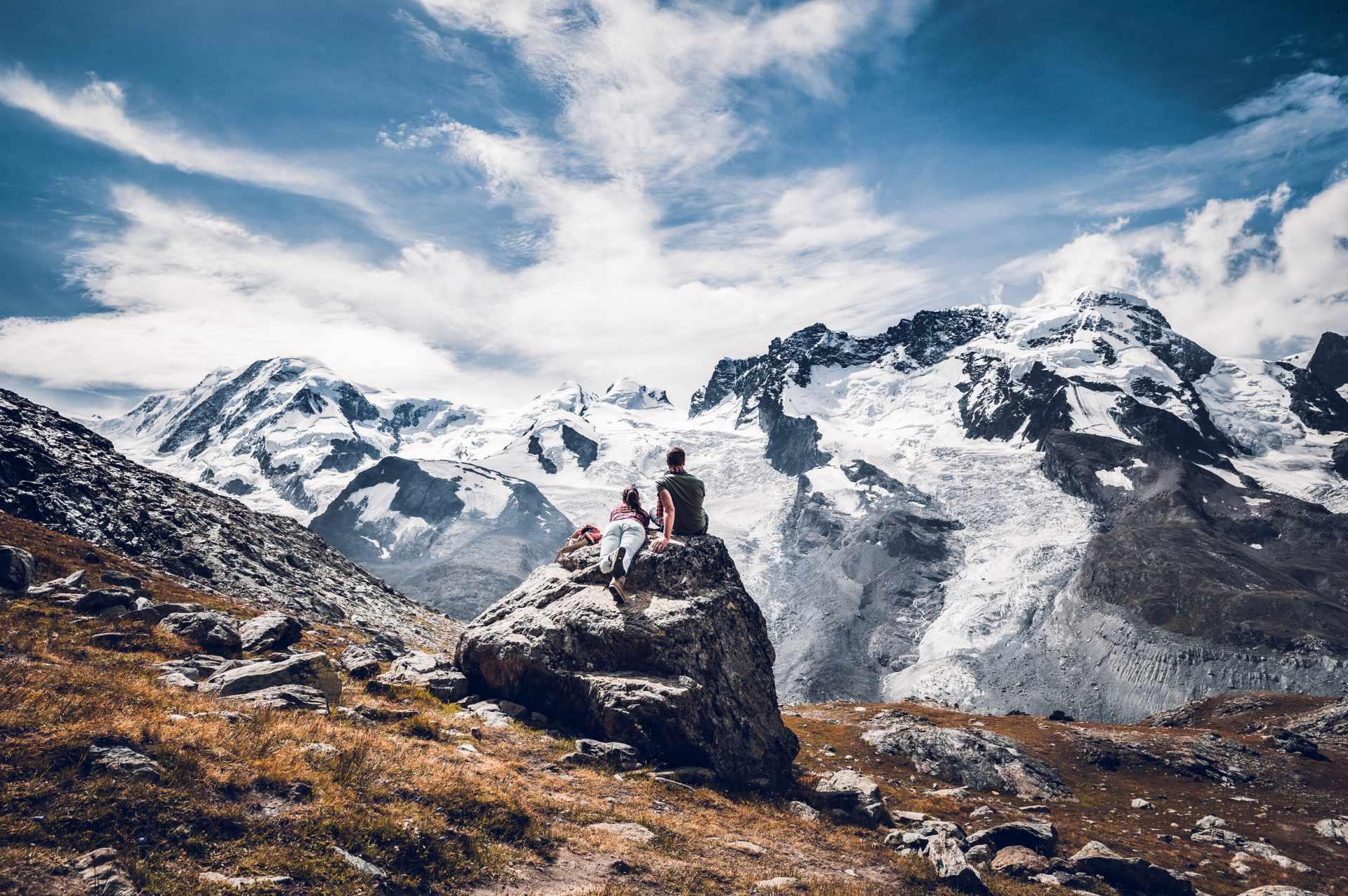 Aussicht auf den Gornergletscher