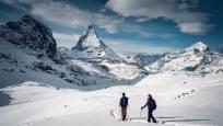 Schneeschuhtour Panorama Trail zwischen Rotenboden und Riffelberg am Gornergrat oberhalb Zermatt
