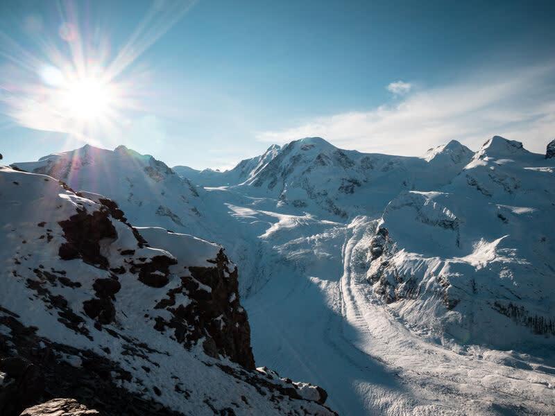 Der Gornergletscher in Zermatt.