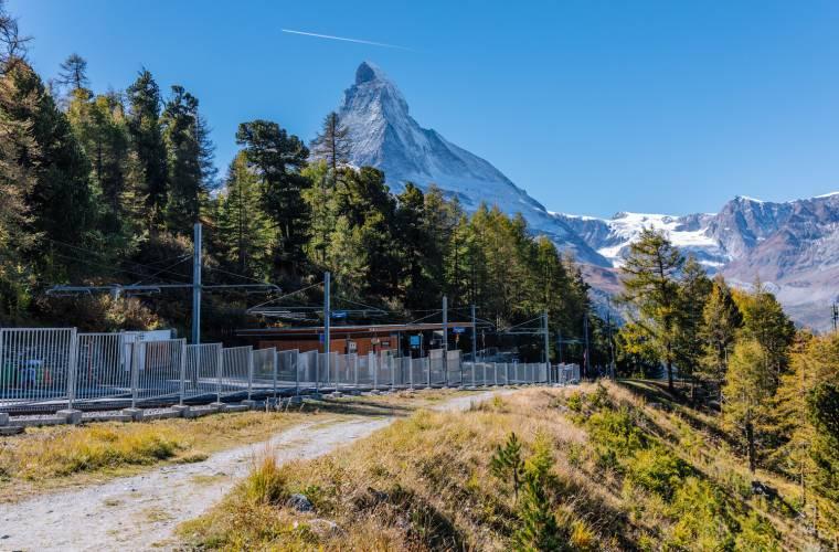 Station Riffelalp der Gornergrat Bahn im Sommer
