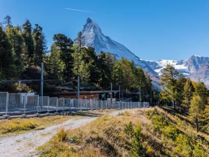 Station Riffelalp du Gornergrat Bahn en été
