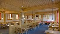 Vue intérieure du restaurant Buffet & Bar au Riffelberg