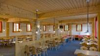 Interior view of the Buffet & Bar restaurant on the Riffelberg