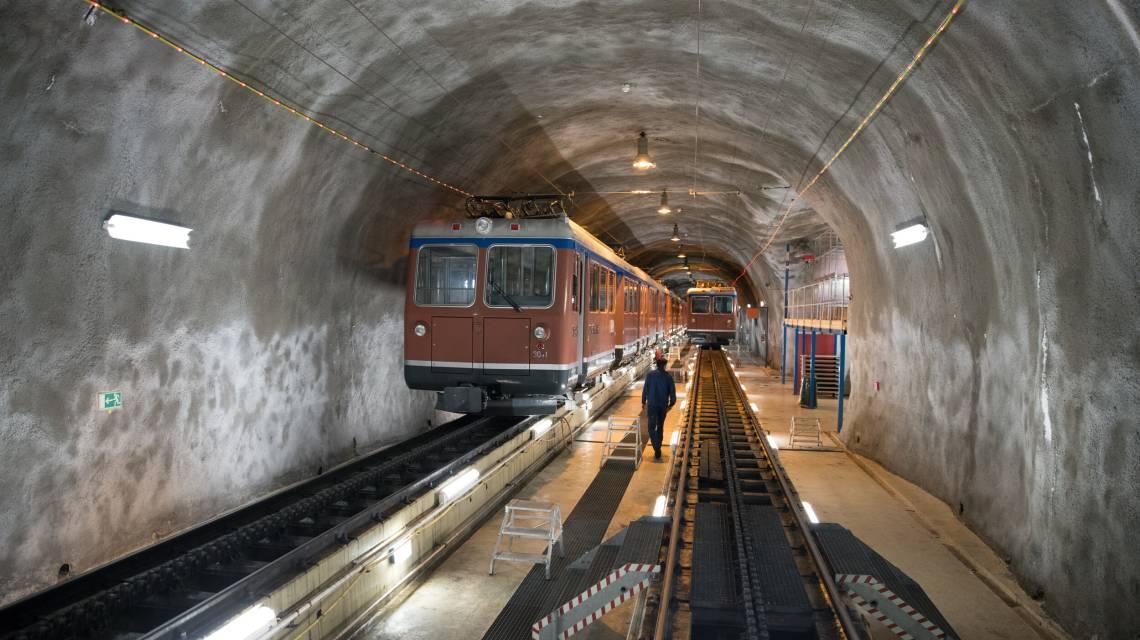 Stollen Gornergrat Bahn in Zermatt