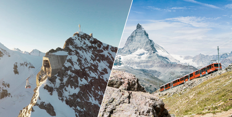 Peak2Peak: Gornergrat Bahn et Matterhorn glacier paradise en une journée!