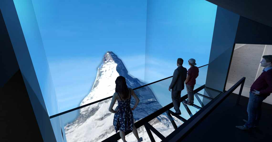 Gornergrat Zoom Four seasons - replica of the Matterhorn