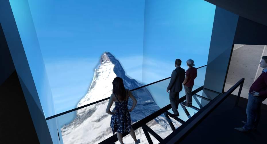 Gornergrat Zooom Four seasons - replica of the Matterhorn