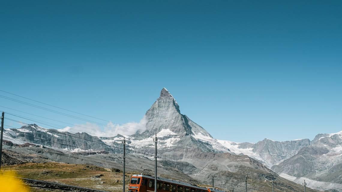 Gornergrat Bahn bei Rotenboden im Sommer