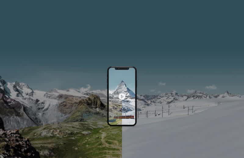 MyMatterhorn Movie, Mobile, Winter, Summer, Rotenboden, Matterhorn, Riffelsee