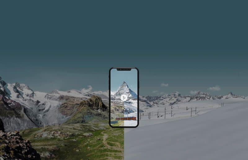 MyMatterhorn Movie, Handy, Winter, Sommer, Rotenboden, Matterhorn, Riffelsee