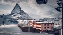 Hotel Restaurant Riffelhaus on Riffelberg above Zermatt in winter