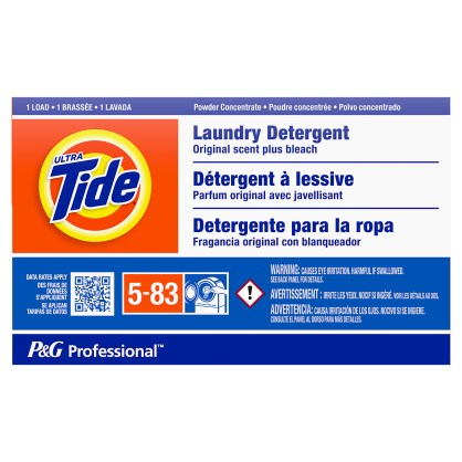 Tide Powder with Bleach Laundry Detergent Coin Vend