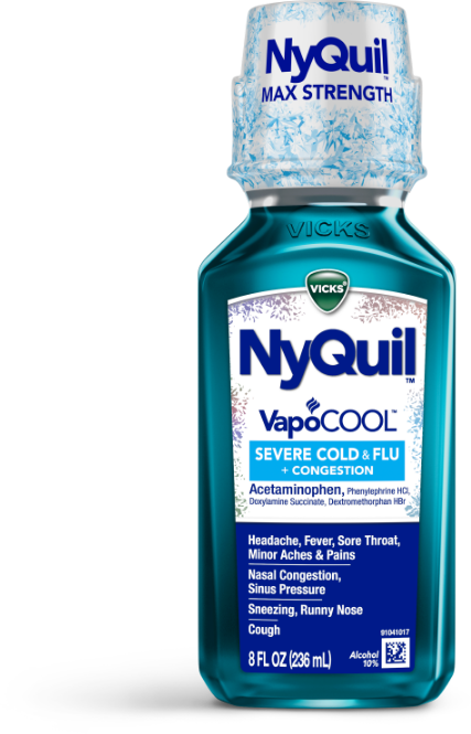 Bottle of drink nyquil half you what if a happens What Happens