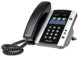 Polycom VVX 500 Series desk phone console