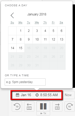 Adjust the date & time view
