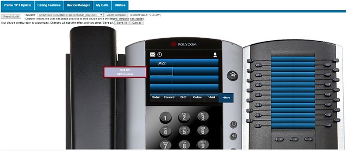 Adding busy lamp to polycom phone