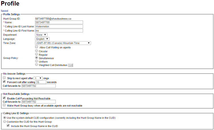 Configuring SmartVoice Hunt Group policies