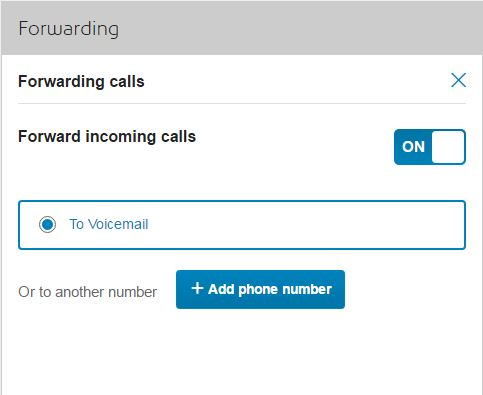 Enable call forward to voicemail