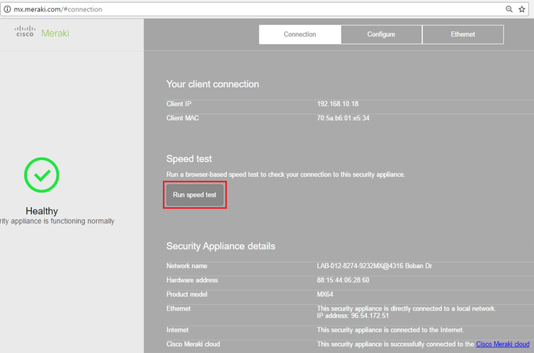 How to set up Meraki static IP with SmartSecurity