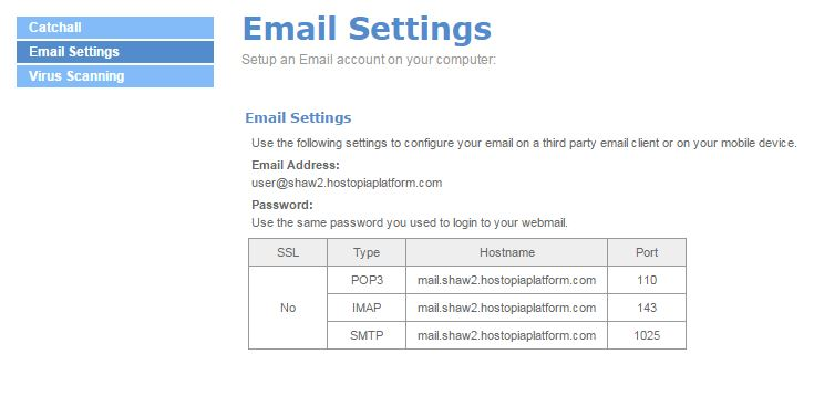 Easymail Help section