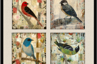 Artwork - Judy Paul - Bird Quadriptych